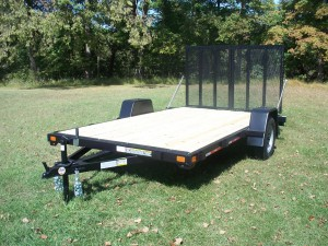 7' x 12' Commercial Grade Flat Bed Ringo Trailer