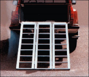 "Aluminum Trifold Sport Ramps 77"" x 50"""