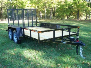 "U6x14E2: 6'4"" x 14' Commercial Utility E2 Series Trailer 7,000 GVW with wood floor"