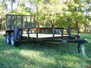 "U6x12E2 - 6'4"" x 12' Commercial Utility E2 Series Trailer 7,000 GVW with wood floor"