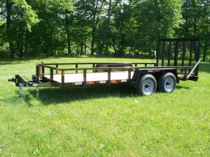 "U6X18LSS-10 - 6'9"" x 18' Commercial Landscape Tubular Design Trailer 9,990 GVW with wood floor"