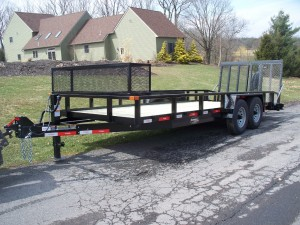 7 x 24 commercial landscape trailer