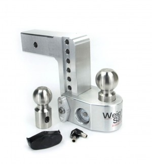 "6"" Drop Weigh Safe Adjustable Aluminum Ball Mount w/ Gauge"