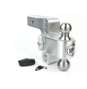 "8"" Drop Weigh Safe Aluminum 180 Ball Mount -3"" Shaft"