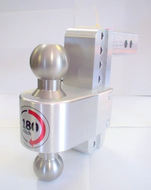 "8"" Drop Weigh Safe Aluminum 180 Ball Mount - 2.5"" Shaft"