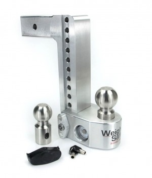 "10"" Drop Weigh Safe Aluminum 180 Ball Mount -2.5"" Shaft"